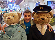 Berlin, ITB 2018. Heimo Aga with Korean Air bears.
