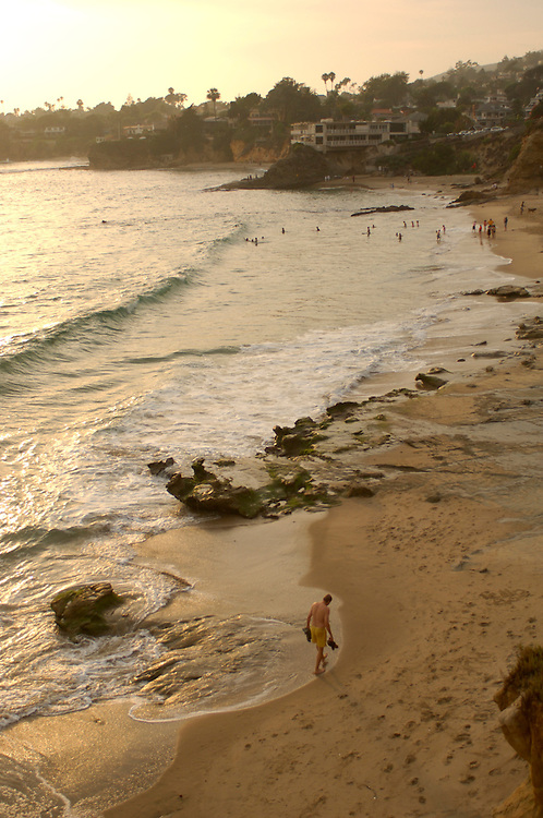 People on Sandy Beach, Laguna Beach, California, United States of America