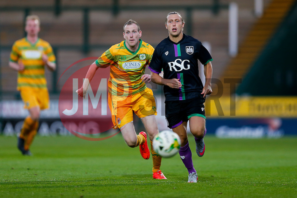 Luke Freeman of Bristol City in action - Mandatory byline: Rogan Thomson/JMP - 07966 386802 - 30/07/2015 - FOOTBALL - Huish Park Stadium - Yeovil, England - Yeovil Town v Bristol City - Pre Season Friendly.