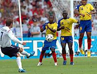 Photo: WROFOTO/Sportsbeat Images.<br />England v Ecuador. 2nd Round, FIFA World Cup 2006. 25/06/2006. <br />England's David Beckham scores his goal.