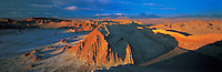 Panoramic View from Valley of the Moon before Sunset , Atacama Desert , Chile