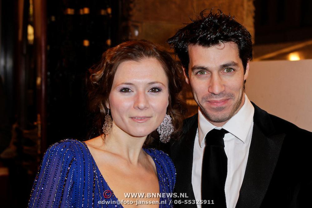 NLD/Amsterdam/20120123 - Premiere Black Out, Celine Purcell en partner Orem Schrijver