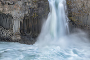 Aldeyjarfoss is in the highlands of northeast Iceland.