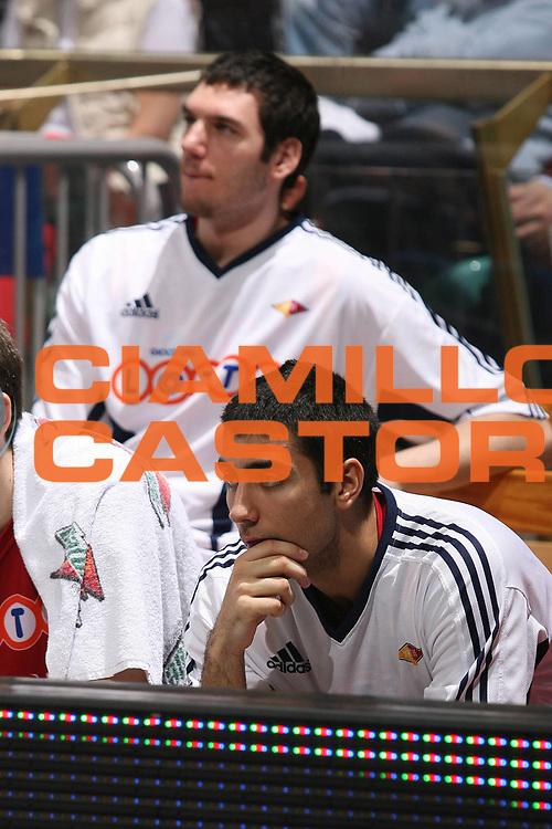 DESCRIZIONE : Bologna Lega A1 2007-08 Upim Fortitudo Bologna Lottomatica Virtus Roma<br /> GIOCATORE : Pietro Aradori Andrea Crosariol<br /> SQUADRA : Lottomatica Virtus Roma<br /> EVENTO : Campionato Lega A1 2007-2008 <br /> GARA : Upim Fortitudo Bologna Lottomatica Virtus Roma<br /> DATA : 30/03/2008<br /> CATEGORIA : <br /> SPORT : Pallacanestro <br /> AUTORE : Agenzia Ciamillo-Castoria/M.Marchi