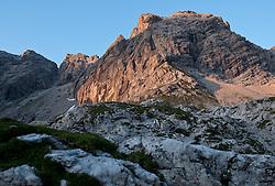 THEMENBILD - Sonnenuntergang am Laserz, Große und Kleine Sandspitze, Lienzer Dolomiten, AUT, EXPA Pictures © 2011, PhotoCredit: EXPA/ M. Gruber