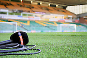 Sky Sports microphone before the EFL Sky Bet Championship match between Norwich City and Ipswich Town at Carrow Road, Norwich, England on 26 February 2017. Photo by Nigel Cole.