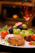 March 5, 2009; Mount Dora, Florida:  Crabcake with fruit appetizer Waterman Village The Bistro...© 2009 Scott A. Miller