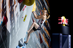Jesica Pilz of Austria during Women's combined Final at the IFSC Climbing World Championships Innsbruck 2018, on September 16, 2018 in OlympiaWorld Innsbruck, Austria, Slovenia. Photo by Urban Urbanc / Sportida
