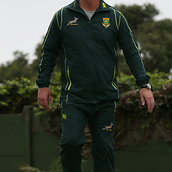 DURBAN, SOUTH AFRICA - JUNE 03: Springbok coach Heyneke Meyer during the Springboks training session at Northwood High School on June 03, 2013 in Durban, South Africa. (Photo by Steve Haag/Gallo Images)