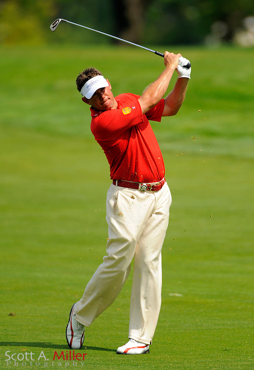Aug 13, 2009; Chaska, MN, USA; Lee Westwood (GBR) during the first round of the 2009 PGA Championship at Hazeltine National Golf Club.  ©2009 Scott A. Miller