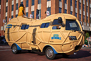 Aug 3, 2019; Canton, OH, USA; Planters Peanuts Nutmobile during the Pro Football Hall of Fame Grand Parade on Cleveland Ave. in Downtown Canton. (Robin Alam/Image of Sport)