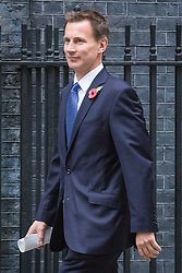 © Licensed to London News Pictures. 01/11/2016. London, UK. Health Secretary Jeremy Hunt arrives on Downing Street for the weekly Cabinet meeting. Photo credit: Rob Pinney/LNP
