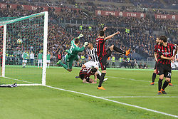 May 9, 2018 - Rome, Lazio, Italy - Kalinic's own goal  during the Italian Cup final match between Juventus FC and AC Milan at Stadio Olimpico on May 09, 2018 in Rome, Italy. .Juventus won 4-0 over Milan. (Credit Image: © Massimiliano Ferraro/NurPhoto via ZUMA Press)