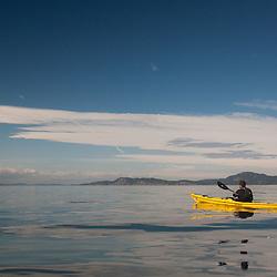 Jason Paddles On, San Juan Islands, Washington, US