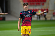 Eddie Brown of Bolton Wanderers warming up before before the EFL Sky Bet League 1 match between Rotherham United and Bolton Wanderers at the AESSEAL New York Stadium, Rotherham, England on 14 September 2019.