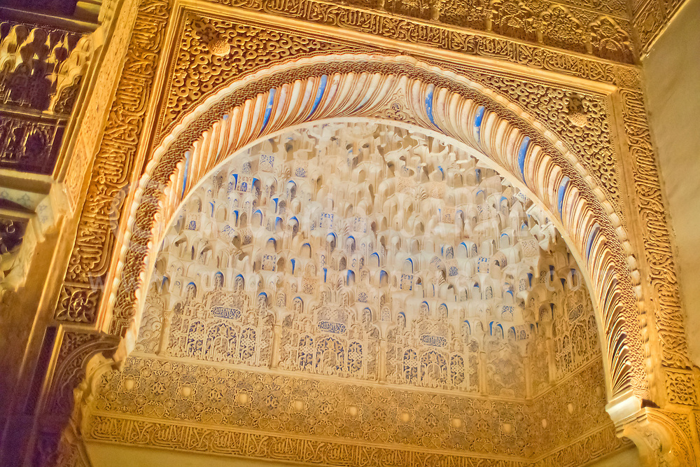 Alberto Carrera, Decorated Wall, Nazaries Palaces, La Alhambra, UNESCO World Heritage Site, Granada, Andaluc&iacute;a, Spain, Europe<br /> <br /> EDITORIAL USE ONLY