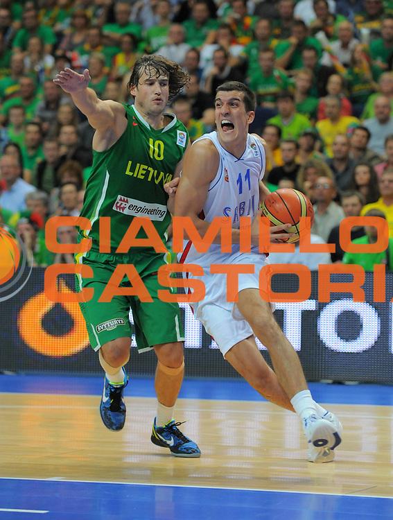 DESCRIZIONE : Vilnius Lithuania Lituania Eurobasket Men 2011 Second Round Serbia Lituania Serbia Lithuania<br /> GIOCATORE : Marko Keselj <br /> SQUADRA : Serbia<br /> EVENTO : Eurobasket Men 2011<br /> GARA : Serbia Lituania Serbia Lithuania<br /> DATA : 07/09/2011 <br /> CATEGORIA : palleggio<br /> SPORT : Pallacanestro <br /> AUTORE : Agenzia Ciamillo-Castoria/T.Wiendesohler<br /> Galleria : Eurobasket Men 2011 <br /> Fotonotizia : Vilnius Lithuania Lituania Eurobasket Men 2011 Second Round Serbia Lituania Serbia Lithuania<br /> Predefinita :