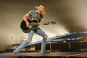 Jason Aldean performing on the Burn It Down Tour at the Roanoke Civic Center in Roanoke, VA on May 1, 2014.