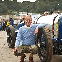 Don Wales, grandson of Sir Malcolm Campbell, here at Pendine Sands, 21 July 2015, commemorating the 90th anniversary of Sir Malcolm Campbell's new world landspeed record where he achieved 150miles/hr in his 350hp Sunbeam Blue Bird