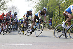 The peloton including Oliver Naesen (BEL) AG2R La Mondiale in Brakel during the 2019 Ronde Van Vlaanderen 270km from Antwerp to Oudenaarde, Belgium. 7th April 2019.<br /> Picture: Eoin Clarke | Cyclefile<br /> <br /> All photos usage must carry mandatory copyright credit (© Cyclefile | Eoin Clarke)