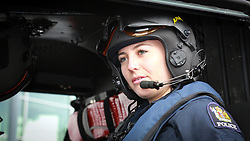 Constable, Alice Renouf inside Police Eagle 2 as police announce the helicopter is available 24/7,  Auckland, New Zealand, Monday, October 02, 2017. Credit:SNPA / Hayden Woodward **NO ARCHIVING**