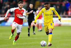 Tareiq Holmes-Dennis of Bristol Rovers takes on Wes Burns of Fleetwood Town - Mandatory by-line: Matt McNulty/JMP - 27/04/2019 - FOOTBALL - Highbury Stadium - Fleetwood, England - Fleetwood Town v Bristol Rovers - Sky Bet League One