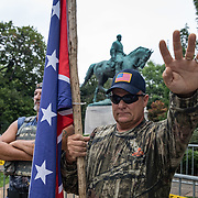 CHARLOTTESVILLE,VA-AUG12: White supremacists in Emancipation Park prior to the Unite the Right rally in Charlottesville,Virginia, August 12, 2017.(Photo by Evelyn Hockstein/For The Washington Post)