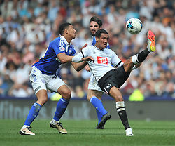DERBY TOM INCE TRYS A SHOT ON IPSWICH GOAL, Derby County v Ipswich Town, Championship, The ipro Stadium, Saturday 7th MAY 2016<br /> Photo:Mike Capps