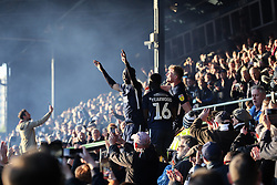 Elvis Bwomono of Southend United leads the celebrations - Mandatory by-line: Arron Gent/JMP - 04/05/2019 - FOOTBALL - Roots Hall - Southend-on-Sea, England - Southend United v Sunderland - Sky Bet League One