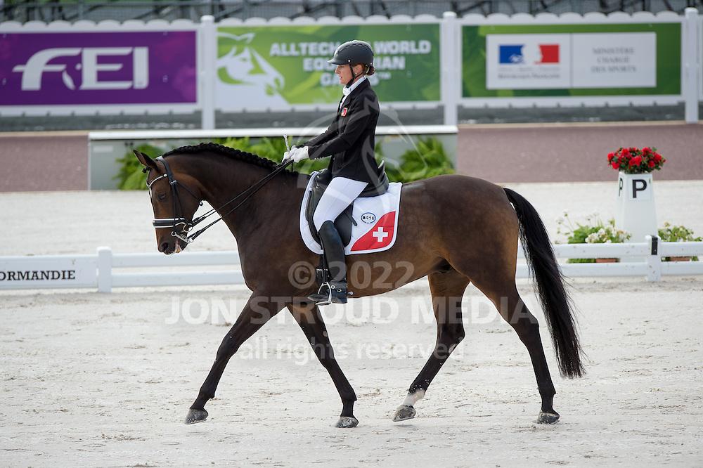 Nicole Geiger, (SUI), Ry de Lafayette CH - Team Competition Grade IV Para Dressage - Alltech FEI World Equestrian Games&trade; 2014 - Normandy, France.<br /> &copy; Hippo Foto Team - Jon Stroud <br /> 25/06/14