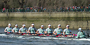 London. UNITED KINGDOM.  162nd BNY Mellon Boat Race and The 71st Newton Women's Boat Race on the Championship Course, River Thames, Putney/Mortlake.  Sunday  27/03/2016    [Mandatory Credit. Intersport Images]<br /> <br /> Oxford University Women's Boat Club {OUWBC} vs Cambridge University Women's Boat Club {CUWBC} <br /> <br /> Oxford, Crew Cox &ndash; Morgan Baynham-Williams, Stroke &ndash; Lauren Kedar, 7 &ndash; Maddy Badcott, 6 &ndash; Anastasia Chitty, 5 &ndash; Elo Luik, 4 &ndash; Ruth Siddorn, 3 &ndash; Joanneke Jansen, 2 &ndash; Emma Spruce, Bow &ndash; Emma Lukasiewicz<br /> <br /> Cambridge, Crew Bow Ashton Brown, 2 Fiona Macklin, 3 Alice Jackson, 4 Thea Zabell, 5 Daphne Martschenko, 6 Myriam Goudet, 7 Hannah Roberts, Stroke Zara Goozee, Cox Rosemary Ostfeld.