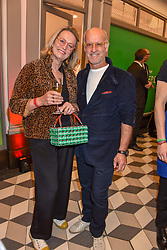 Roger Saul & Monty Saul at a cocktail supper hosted by BOTTLETOP co-founders Cameron Saul & Oliver Wayman, along with Arizona Muse, Richard Curtis & Livia Firth to launch the #TOGETHERBAND campaign at The Quadrant Arcade on April 24, 2019 in London, England.<br /> <br /> ***For fees please contact us prior to publication***