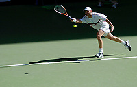 MELBOURNE, AUSTRALIA - JANUARY 23:  Andre Agassi of USA in action during day five of the Australian Open January 23, 2004 in Melbourne, Australia. (Photo by Lars Mueller/Sportsbeat) *** Local Caption *** -