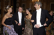 Xenia Gorbechev and her escort, Kirill Solod and Margherita Missoni and her escort, Lupo Lanzara. . Crillon Debutantes Ball 2002. Paris. 7 December 2002. © Copyright Photograph by Dafydd Jones 66 Stockwell Park Rd. London SW9 0DA Tel 020 7733 0108 www.dafjones.com