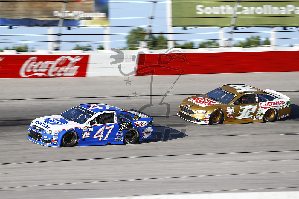 September 03, 2017 - Darlington, South Carolina, USA: AJ Allmendinger (47) and Matt DiBendetto (32) battle for position during the Bojangles' Southern 500 at Darlington Raceway in Darlington, South Carolina.