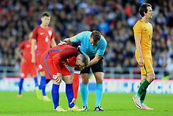 Wayne Rooney of England picks up a knock  - Mandatory by-line: Matt McNulty/JMP - 27/05/2016 - FOOTBALL - Stadium of Light - Sunderland, United Kingdom - England v Australia - International Friendly