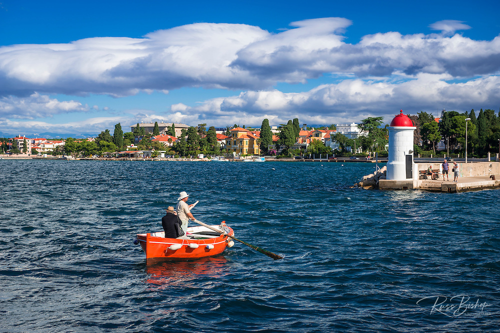 Water taxi crossing the harbor, Zadar, Dalmatian Coast, Croatia