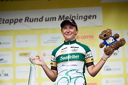Mia Radotic (CRO) is awarded the combativity award at Lotto Thuringen Ladies Tour 2018 - Stage 2, an 136 km road race starting and finishing in Meiningen, Germany on May 29, 2018. Photo by Sean Robinson/Velofocus.com