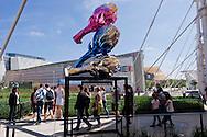 Milano 02  Maggio 2015 <br /> EXPO Milano 2015 Nutrire il pianeta -Energia per la vita<br /> Prima giorno di apertura al pubblico. Scultura di Carciofi<br /> Milan 2 may 2015<br /> EXPO Milano 2015 Feeding the planet -Energy for life<br /> First day of opening to the public. Sculpture of Artichokes