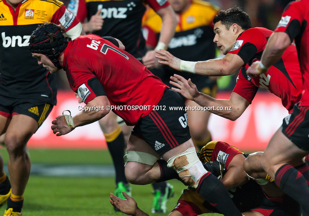 Crusaders' Matt Todd during the Super Rugby Semi Final won by the Chiefs (20-17) against the Crusaders at Waikato Stadium, Hamilton, New Zealand, Friday 27 July 2012. Photo: Stephen Barker/Photosport.co.nz