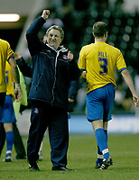 Photo: Steve Bond/Richard Lane Photography. Derby County v Crystal Palace. Coca Cola Championship. 06/12/2008. Neil Warnock celebrates the win