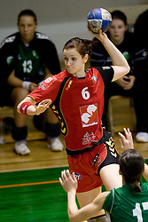 Ana Gros of Krim  at handball Slovenian cup Finals match  between RK Olimpija and RK Krim Mercator, on March 28, 2010, SD Leon Stukelj, Novo mesto, Slovenia. (Photo by Vid Ponikvar / Sportida)