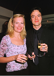 Actress ANASTASIA HILLE and actor PAUL RHYS, at a party in London on 3rd November 1998.MLN 3