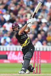 Somerset's Lewis Gregory bats during the Vitality T20 Blast Semi Final match on Finals Day at Edgbaston, Birmingham.