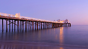 Sunset at Malibu Pier, California USA