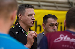 09.12.2014, Sporthalle, Leoben, AUT, OeHB-Cup Achtelfinale, Union JURI Leoben vs SG INSIGNIS Handball West Wien, im Bild Trainer Romas Magelinskas(Leoben) // durning the OeHB-Cup, Round of the last sixteen, between, Union JURI Leoben vs SG INSIGNIS Handball West Wien at the Sport Hall, Leoben, Austria on 2014/12/09, EXPA Pictures © 2014, PhotoCredit: EXPA/ Dominik Angerer