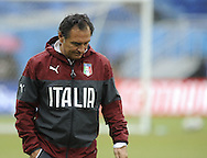 Italy head coach Cesare Prandelli during training at Arena das Dunas, Natal<br /> Picture by Stefano Gnech/Focus Images Ltd +39 333 1641678<br /> 23/06/2014