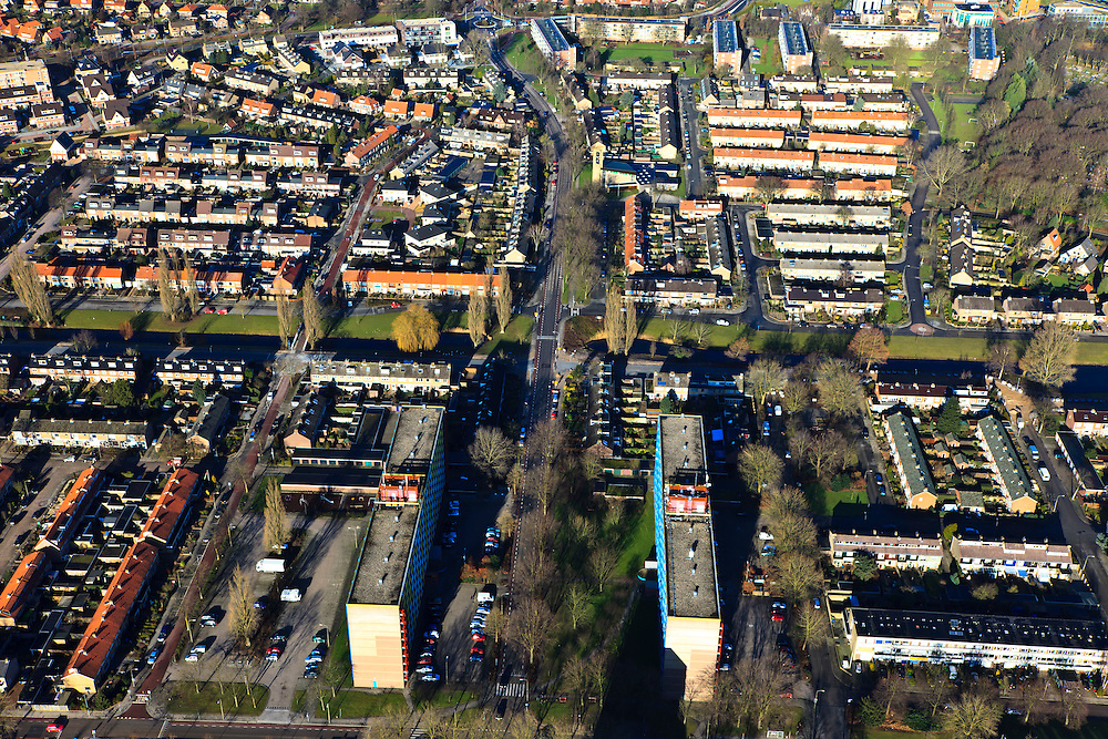 Nederland, Gelderland, Harderwijk, 20-01-2011; .De nieuwbouwwijk Stadsdennen.New housing estate in Harderwijk called Stadsdennen (Urban pines).luchtfoto (toeslag), aerial photo (additional fee required).copyright foto/photo Siebe Swart
