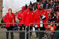 Jay Emmanuel-Thomas of Bristol City takes his place on the bench - Photo mandatory by-line: Rogan Thomson/JMP - 07966 386802 - 20/12/2014 - SPORT - FOOTBALL - Crewe, England - Alexandra Stadium - Crewe Alexandra v Bristol City - Sky Bet League 1.