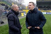 (L-R) coach *Maurice Steijn* of VVV Venlo, coach *John van den Brom* of AZ Alkmaar